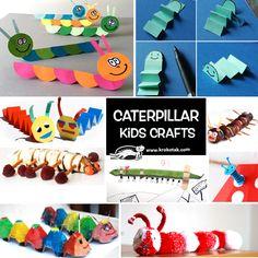 Caterpillars kids crafts