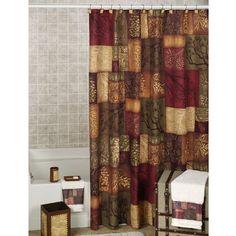 Adirondack Pine Cone Block Design Shower Curtain