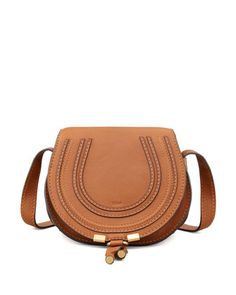 Marcie Small Leather Crossbody Bag, Tan by Chloe at Neiman Marcus.