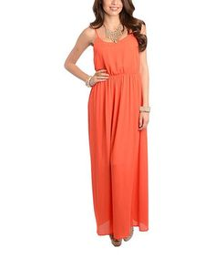 Another great find on #zulily! Coral Studded Empire-Waist Maxi Dress by Ami Sanzuri #zulilyfinds