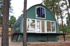 These adorable prefab arched cabins give you the option to customize your home without breaking the bank.