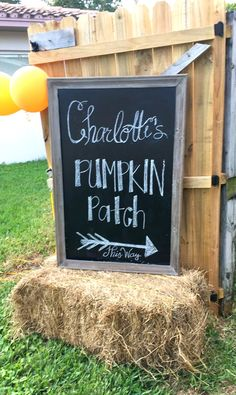 As it came closer to planning Charlottes birthday party, it was no question that it would be Fall themed. A pumpkin patch was per. Pumpkin Patch Birthday, Pumpkin Patch Party, Pumpkin Birthday Parties, Pumpkin First Birthday, Pumpkin Patches, Fall Party Themes, 1st Birthday Party Themes, 1st Birthday Girls, Birthday Banners