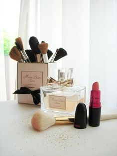 I did this with my Miss Dior perfume box! Looks like I'm not the only one :)