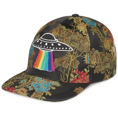 90003c68f82e5 Gucci Floral Baseball Cap with UFO ( 680) ❤ liked on Polyvore featuring  men s fashion