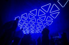 tetro presents grid a suspended kinetic light installation in lyon