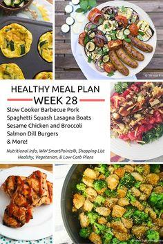 Healthy Meal Plans Week 28 - Slender Kitchen