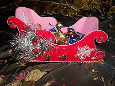 "Конфетница ""Санки Деда Мороза"" - Ярмарка Мастеров - ручная работа, handmade"