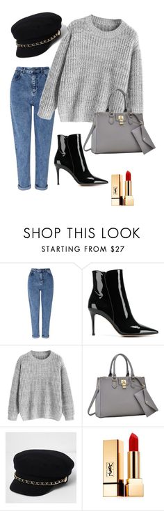 """""""Grey autumn"""" by veronika-zabova on Polyvore featuring Miss Selfridge, Gianvito Rossi, Dasein, River Island and Yves Saint Laurent"""