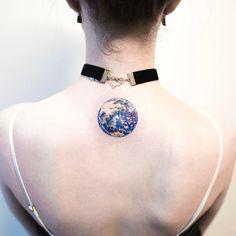Realistic Earth Tattoo by ilwolhongdam