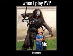 PVP in a nutshell - OffVault : Funny Video Game Memes and Gaming Pictures Funny Video Game Memes, Funny Gaming Memes, Funny Games, Art Clipart, Image Clipart, Online Sites, Online Dating, Warcraft Movie, Elder Scrolls Online