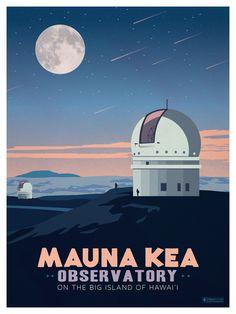 Travel Poster from IdeaStomr Mauna Kea Hawaii