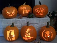 Harry Potter Pumpkins.
