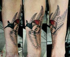 Katarzyna Krutak bird tattoo