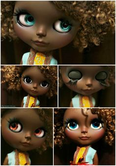 Etta, Beautiful Brown Blythe Custom Art Doll Today at 12 Noon PST at www.mydeliciosubliss.etsy.com