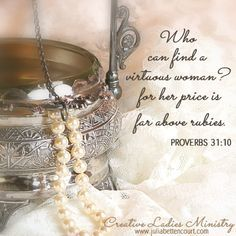 Strands of Pearls (Proverbs 31) Devotional for Women by Julia Bettencourt.  #womensministryideas  #ladiesministry