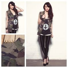 Today's Daily Fix: Exclusive Phix Vintage Renewal Sleeveless Camo with Spiked Shoulder Detail     £40    http://www.phixclothing.com/exclusive-phix-vintage-renewal-sleeveless-camo-with-spiked-shoulder-detail-p-6707_4_100.html