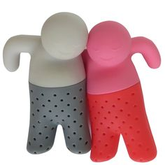 Amazon.com: J&Z Mr Tea and Mrs Tea - Two Silicone Tea Infusers - Strainers for Loose Leaf Tea: Kitchen & Dining