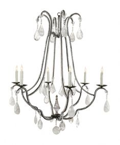 202 best l s and chandeliers images French Style Interior Decorating andora ii chandelier by ebanista 6 light crystal chandelier hand f ed wrought