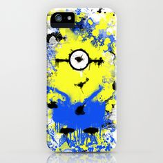 Splatter Painted Minion  iPhone & iPod Case by Trinity Bennett - $35.00
