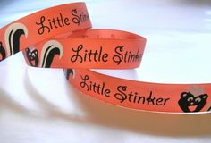 7/8 inch Little Stinker Printed by HairbowSuppliesEtc