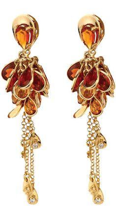 Citrine and diamond earrings by Vianna