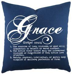 Grace Cotton Throw Pillow