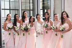Bridesmaid Photo, pink bridesmaid dresses - Elegant & Modern downtown wedding at the central San Diego library. So many simple and amazing modern decor ideas! —San Diego Wedding & Engagement Photography  - for more ideas and wedding & engagement photography inspiration, check out my blog! www.britjaye.com/blog #sandiegoweddingphotography #weddingphotography #weddingphotos #weddingphotographer