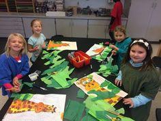 Jamestown Elementary Art Blog: Second grade Henry Rousseau jungle animals