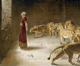 Daniel in the Den of Lions. Reminder to keep your eyes on God, not on your problems.