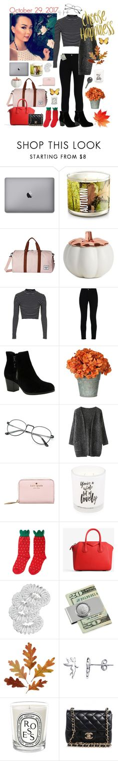 """""""Untitled #1593"""" by mledoll ❤ liked on Polyvore featuring Herschel Supply Co., Illume, Topshop, STELLA McCARTNEY, Skechers, Kate Spade, Damselfly, Hansel from Basel, Givenchy and Miss Selfridge"""