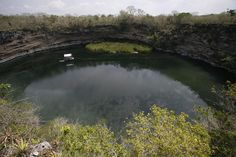 World's deepest geothermal sinkhole, El Zacaton, in northwestern Mexocan state of Tamaulipas 2007