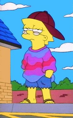 Lisa style :v discovered by Sista León on We Heart It Simpson Wallpaper Iphone, Cartoon Wallpaper, Iphone Wallpaper, Cartoon Icons, Cartoon Memes, Lisa Simpson Tumblr, Simpsons Art, Cartoon Profile Pics, Mood Wallpaper