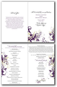 unique-new-wedding-programs-template-signatures-by-sarah--june-2010.png (1041×1600)