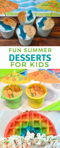 Fun summer desserts for kids. Find fun ideas and easy snacks and pool parties. Fun summer desserts for kids. Find fun ideas and easy snacks and pool parties. Cooking With Kids Easy, Baking With Kids, Fun Snacks For Kids, Kids Meals, Simple Snacks, Snacks Ideas, Kids Fun, Summer Food Kids, Camping Snacks