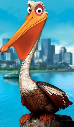 Finding Nemo - Nigel (Geoffrey Rush) is a brown pelican. Nigel was friends with… Disney Pixar, Disney Wiki, Disney Cars, Inkscape Tutorials, Band Wallpapers, Emperors New Groove, Disney Nursery, Finding Dory, Disney Christmas