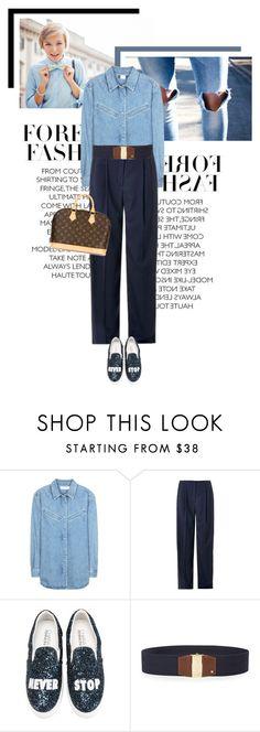 """Chambray"" by veronicamastalli ❤ liked on Polyvore featuring moda, MiH Jeans, Lanvin, Chiara Ferragni, Lauren Ralph Lauren y Louis Vuitton"