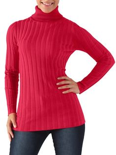 $13 - 14.80 Long Sleeve Ribbed Turtleneck Sweater: Dots.com 8 COLORS