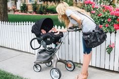 Barefoot Blonde Blog | Luxe Stokke Xplory stroller with car seat adaptors and Maxi-Cosi infant car seat – a perfect travel system for an on the go mom!