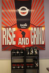 Get Zombie Coffee, even at your own home! Coffee Coffee, Coffee Shop, Zombie Coffee, Coffee Branding, Own Home, Coffee Shops, Loft Cafe, Coffeehouse