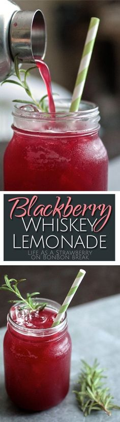 Blackberry Whiskey Lemonade is the perfect summer cocktail - it's easy to make, refreshing, and packed with summer flavor! Click through for recipe! by janine