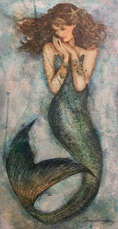 Pin Up Mermaid, Mermaid Song, Siren Mermaid, Mermaid Diy, Vintage Mermaid, Mermaid Tails, Fantasy Mermaids, Real Mermaids, Mermaid Drawings