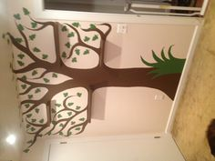 Painted tree w/ shelve branches