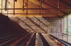 Otaniemi Chapel by Kaija & Heikki Siren Brick Architecture, Architecture Student, Siren Design, Nordic Lights, Timber Structure, Space Place, Alvar Aalto, Brick And Stone, Building