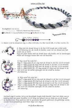Seed bead jewelry Elfenatelier - Spiral ~ Seed Bead Tutorials Discovred by : Linda Linebaugh Seed Bead Bracelets, Seed Bead Jewelry, Bead Jewellery, Jewellery Shops, Jewelry Findings, Jewelry Stores, Beaded Necklace Patterns, Seed Bead Patterns, Beading Patterns