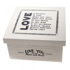 East of India Love Is Patient Keepsake Box