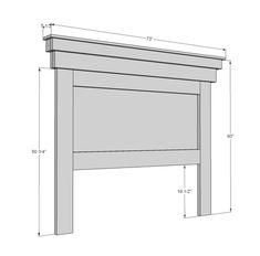 DIY Headboard @ DIY Home Ideas - Do it yourself bedroom furniture.