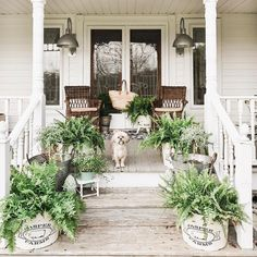 When the sun starts to shine and the weather grows warm, it is fun to celebrate the fresh spring season by decorating your home. The list of 50 Beautiful Spring Decorating Ideas for Front Porch below can help make your… Continue Reading → Porch Decorating, Decorating Your Home, Decorating Ideas, Decor Ideas, Front Porch Flowers, Painted Fox Home, Farmhouse Front Porches, Farmhouse Garden, Modern Farmhouse