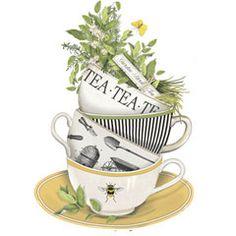 Herb Teacups-Mary Lake-Thompson
