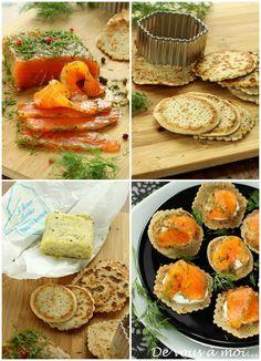 saumon mariné, sauce gravlax, blinis sarasin
