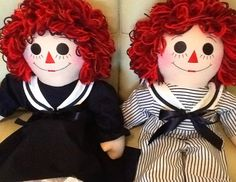 "25"" Sailor Outfit Raggedy Ann or Andy Dolls Handmade - 25 Inches - pinned by pin4etsy.com"